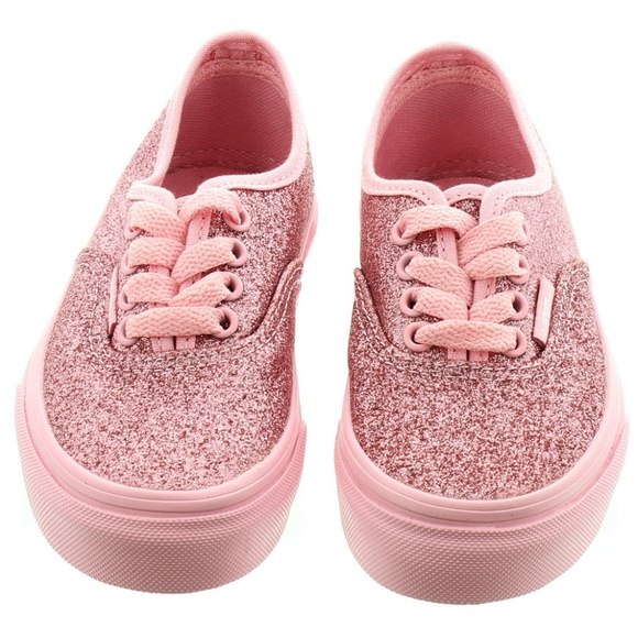 Vans Shoes | Pink Glitter Trainers
